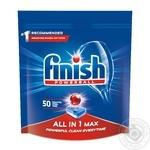 Засіб Finish All in One для миття посуду в посудомийних машинах в таблетках 50шт