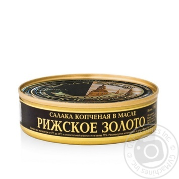 Салака Рижское Золото копченая в масле 160г