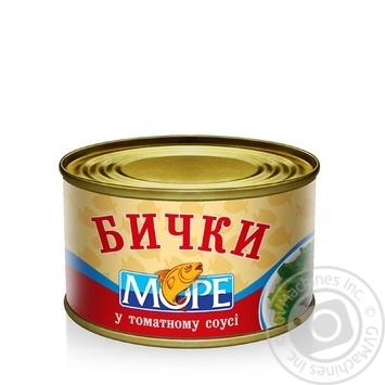 Бычки Море в томатном соусе 230г - купить, цены на Novus - фото 1