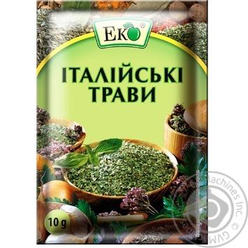 Приправа Еко Італійські трави 10г - купити, ціни на МегаМаркет - фото 1