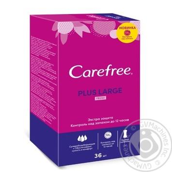 Прокладки ежедневные Carefree Plus Large Fresh 36шт - купить, цены на Восторг - фото 1