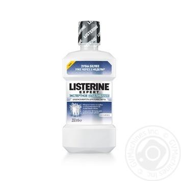 Ополаскиватель для полости рта Listerine Expert Експертное Отбеливание 250мл - купить, цены на Novus - фото 2
