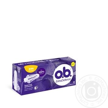 O.B. Extra Defence Normal Tampons 16pcs - buy, prices for Auchan - photo 1