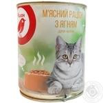 Мясной рацион Ашан с ягненком для кошек 360г - купить, цены на Ашан - фото 3