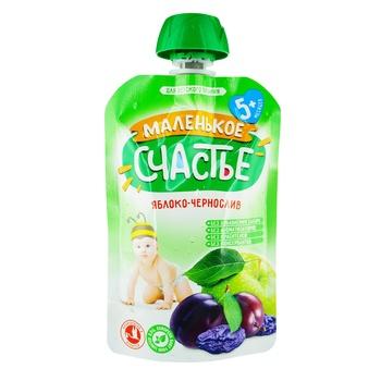 Пюре Маленьке щастя яблуко-чорнослив для дітей з 5 місяців 90г