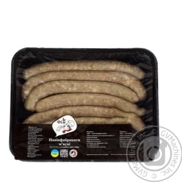 Колбаски Ле Филе Охотничьи куриные охлажденные весовые - купить, цены на Ашан - фото 1