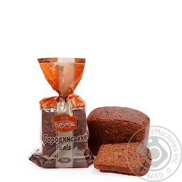 Хлеб Румянец Бородинский ржано-пшеничный нарезка 500г - купить, цены на Novus - фото 1