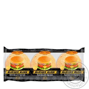 Kyivkhlib Buns for Burgers 3pcs 180g