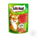 Kitekat food for adult cats with beef in jelly 100g