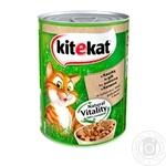 Корм для котов Kitekat с уткой в желе 400г
