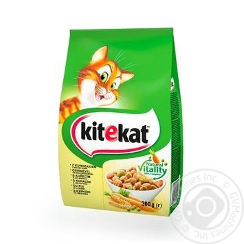 Корм Кіtekat для кошек сухой курица с овощами 300г - купить, цены на Ашан - фото 1
