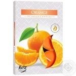 Свічка Bispol апельсин 6шт