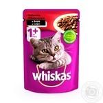 Корм для котов Whiskas с говядиной в соусе 100г - купить, цены на Метро - фото 1
