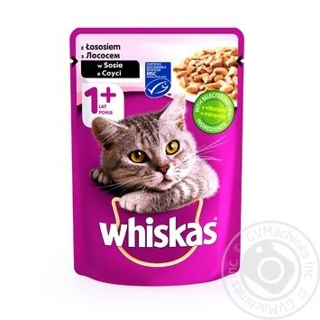 Whiskas With Salmon In Sause For Adult Cats Food - buy, prices for Novus - image 1