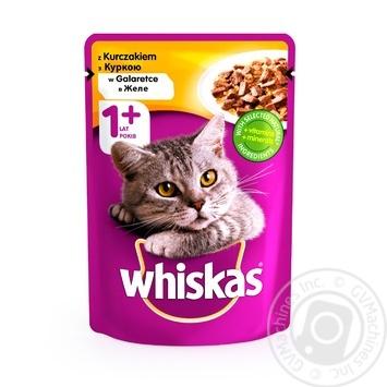 Корм для котов Whiskas с курицей в желе 100г - купить, цены на Novus - фото 1