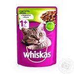Корм для взрослых котов Whiskas с ягненком в желе 100г - купить, цены на Фуршет - фото 1
