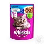 Корм для взрослых котов Whiskas с тунцом в желе 100г - купить, цены на Метро - фото 1