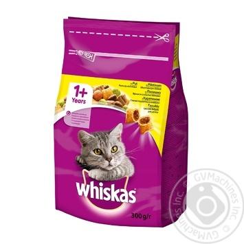Корм сухой Whiskas для взрослых кошек с курицей 300г - купить, цены на Novus - фото 1