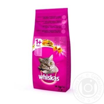 Корм Whiskas с говядиной для кошек 14кг - купить, цены на Novus - фото 1