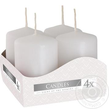 Свічка Bispol 4шт Білі 40х60 7год - купити, ціни на МегаМаркет - фото 1