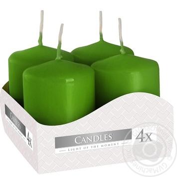 Свічки Bispol зелені 4шт 40*60 - купить, цены на МегаМаркет - фото 1
