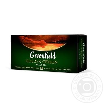 Чай Грінфілд Голден Цейлон чорний 2г х 25шт - купити, ціни на Novus - фото 2