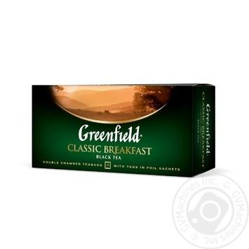 Чай Грінфілд Класік Брекфест чорний 2г х 25шт - купити, ціни на Novus - фото 2