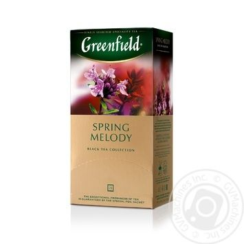 Greenfield Spring Melody Black Tea with thyme 25pcs 1,5g - buy, prices for Novus - image 3