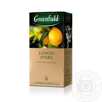 Чай Greenfield черный Lemon Spark 25шт*1.5г - купить, цены на Метро - фото 2