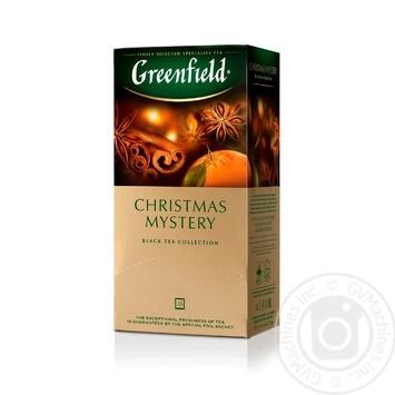 Чай Greenfield черный Christmas Mystery 25шт*1.5г - купить, цены на Метро - фото 1