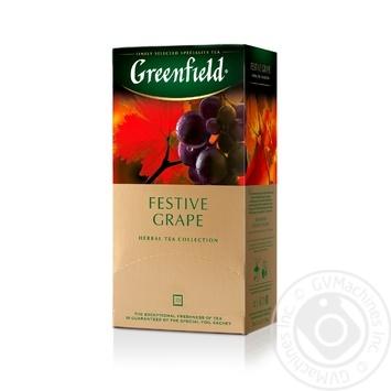 Чай Гринфилд Фестив Грейп травяной со вкусом и ароматом винограда 2г х 25шт - купить, цены на Novus - фото 2