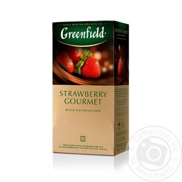 Чай Greenfield черный Strawberry Gourmet 25шт*1.5г - купить, цены на Метро - фото 2