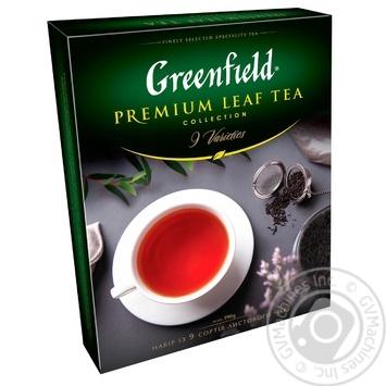 Greenfield Premium leaf black tea 9*40g - buy, prices for MegaMarket - image 1