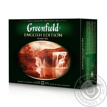 Чай Greenfield English Edition черный цейлонский байховый мелкий в пакетиках 50*2г