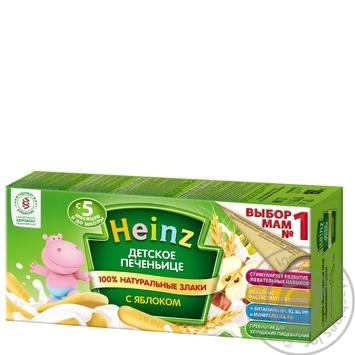 Печенье Heinz детское с яблоком 160г - купить, цены на МегаМаркет - фото 1