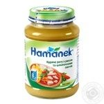 Ragout Hamanek chicken with rice for children from 8 months 190g glass jar