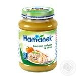 Puree Hamanek turkey for children from 10 months 190g glass jar