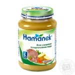 Puree Hamanek with lambs for children from 6 months 190g glass jar