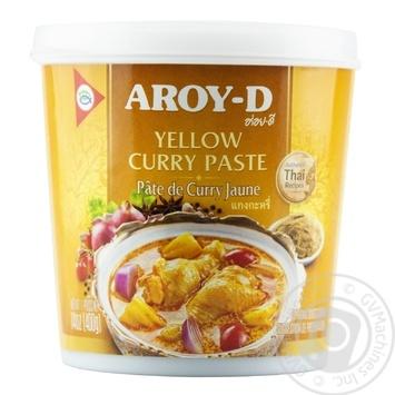 Паста Aroy-D Карри желтая 400г - купить, цены на Novus - фото 1