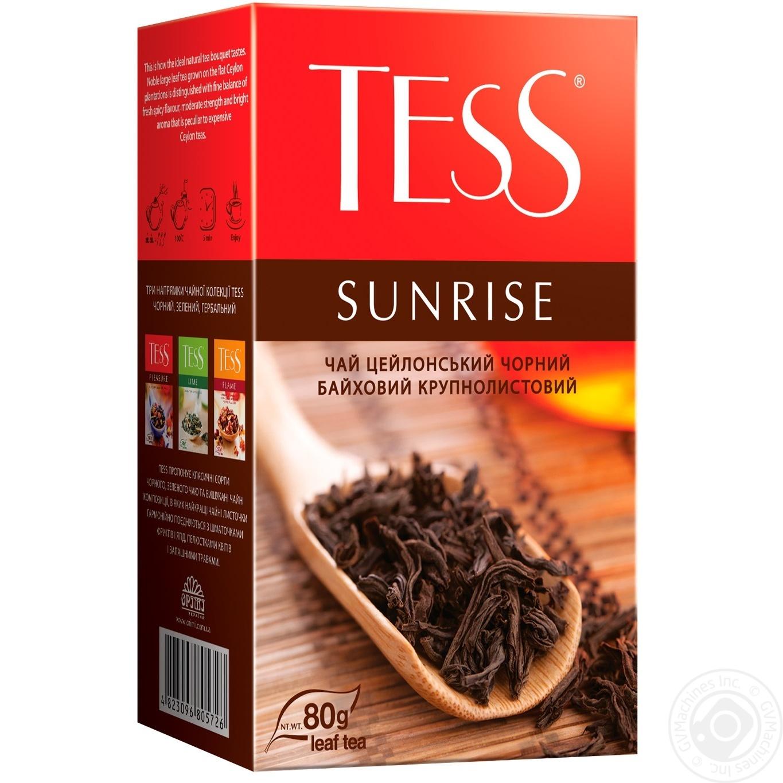 Чай черный Tess Sunrise 80г