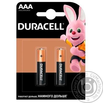 Щелочные батарейки Duracell AAA, 2 шт. в упаковке - купить, цены на Novus - фото 2