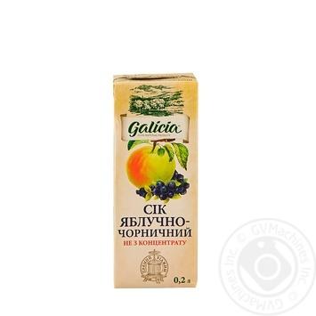 Сок Galicia яблочно-черничный 0,2л - купить, цены на Восторг - фото 1