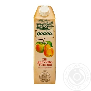 Galicia apple-pear juice 1l - buy, prices for Novus - image 1