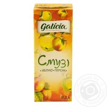 Смузі Galicia Яблуко-персик 0,2л - купити, ціни на Novus - фото 5