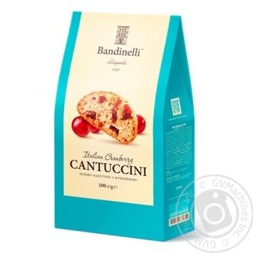 Печенье Bandinelli Кантучини с клюквой 100г