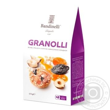 Palazzo Bandinelli Granolli With Prunes Dried Apricots And Hazelnuts Biscuits 125g - buy, prices for Novus - image 1
