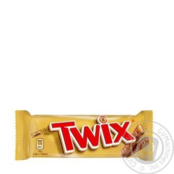 Печенье Twix песочное с карамелью покрытое молочным шоколадом 50г - купить, цены на Метро - фото 1