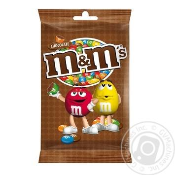 Драже M&M's з молочним шоколадом у хрусткый різнокольоровій глазурі 125г - купити, ціни на Novus - фото 1