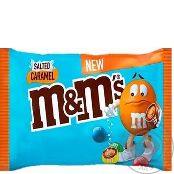 Драже M&M's Salted Caramel с соленой карамелью в молочном шоколаде и разноцветной глазури 36г