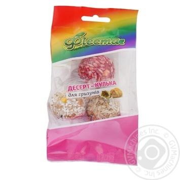 Десерт-шарик Фиеста для грызунов 3шт - купить, цены на Ашан - фото 1